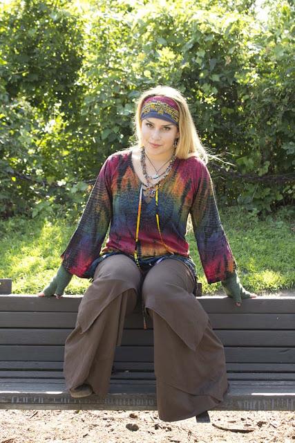 tie dye+kurta - Kurtas - Cool Hippie Tops at Soul Flower