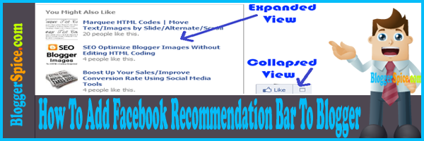 How To Add Facebook Recommendation Bar To Blogger