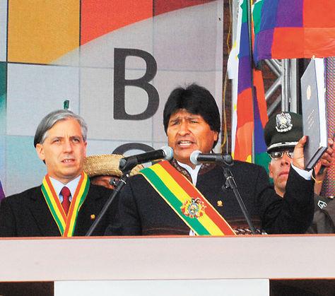La políticia en Bolivia