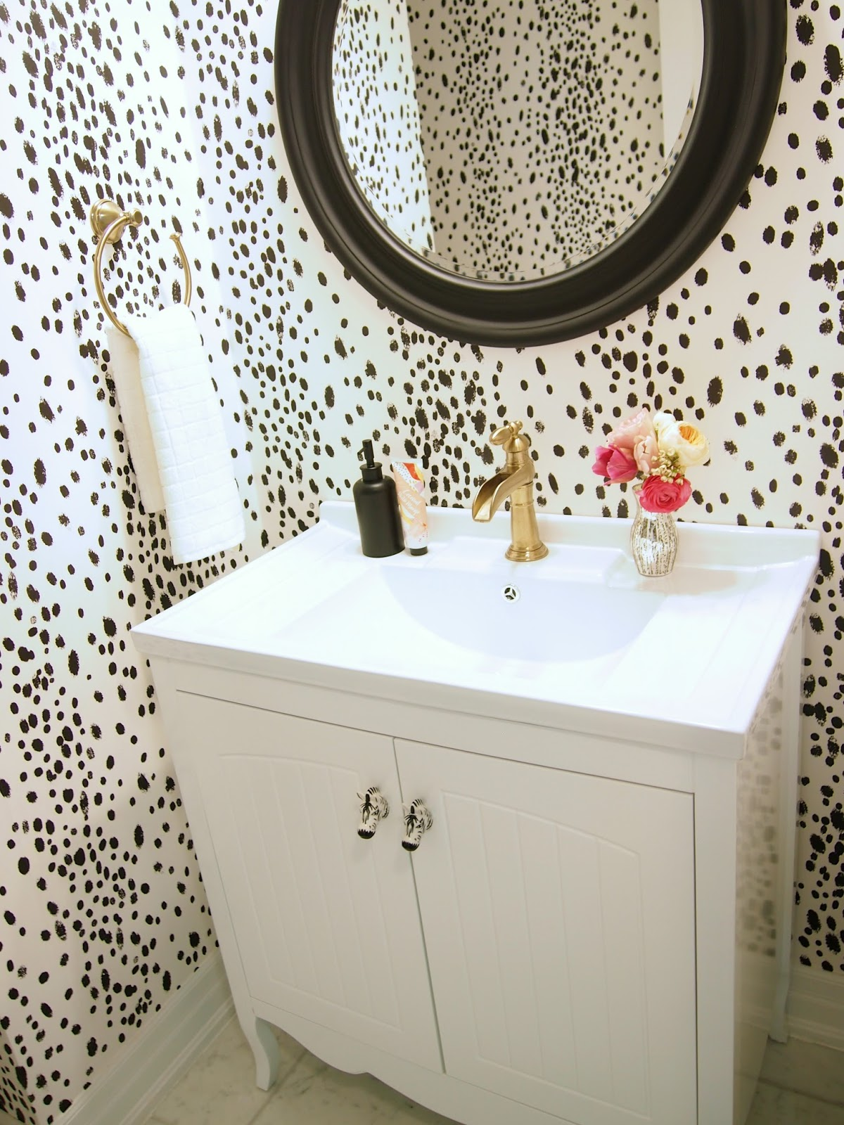 Powder Room Reveal Suburban Faux Pas