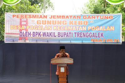 """Wakil Bupati Resmikan Jembatan Gantung """" Gunung Kebo """" Pogalan"""