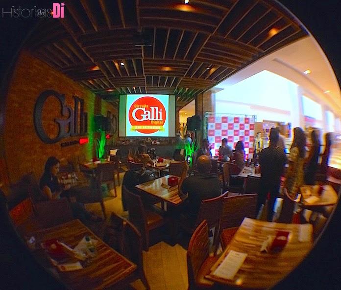 O espaço elegante do Restaurante Galli