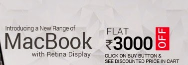 Apple macbooks at Flat Rs 3000 off.    Starting from Rs 52090