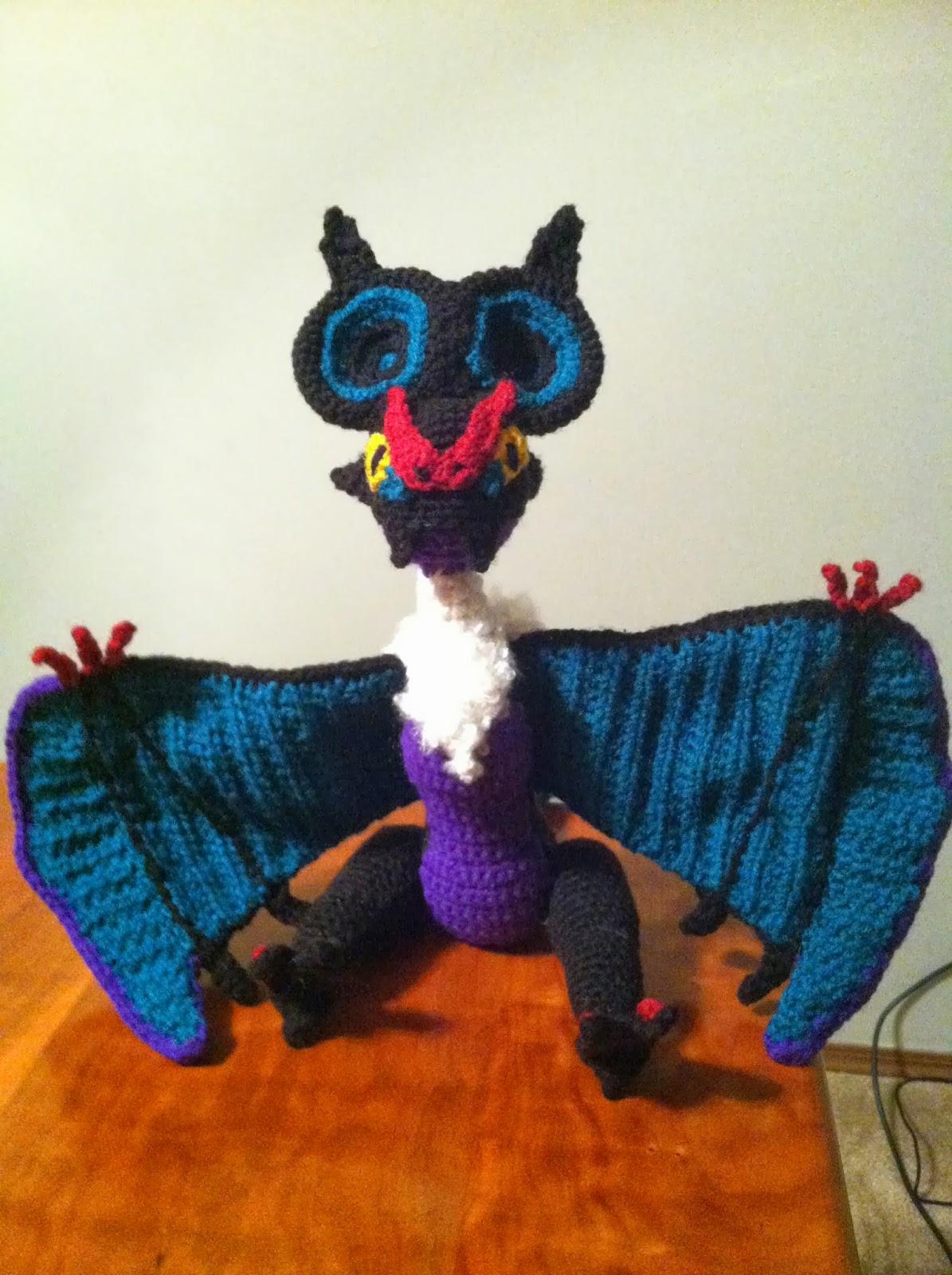 Plush Heart Knitting Pattern : Heart in Flight Crochet: Noivern Crochet Plush Pattern