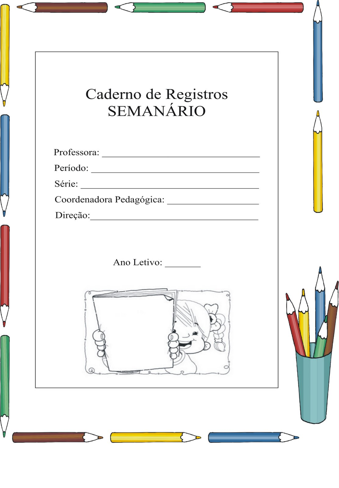 Modelos De Frente De Cadernos  Abertura De Caderno  Capas De Caderno