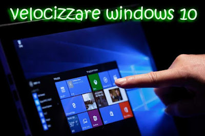 velocizzare windows10
