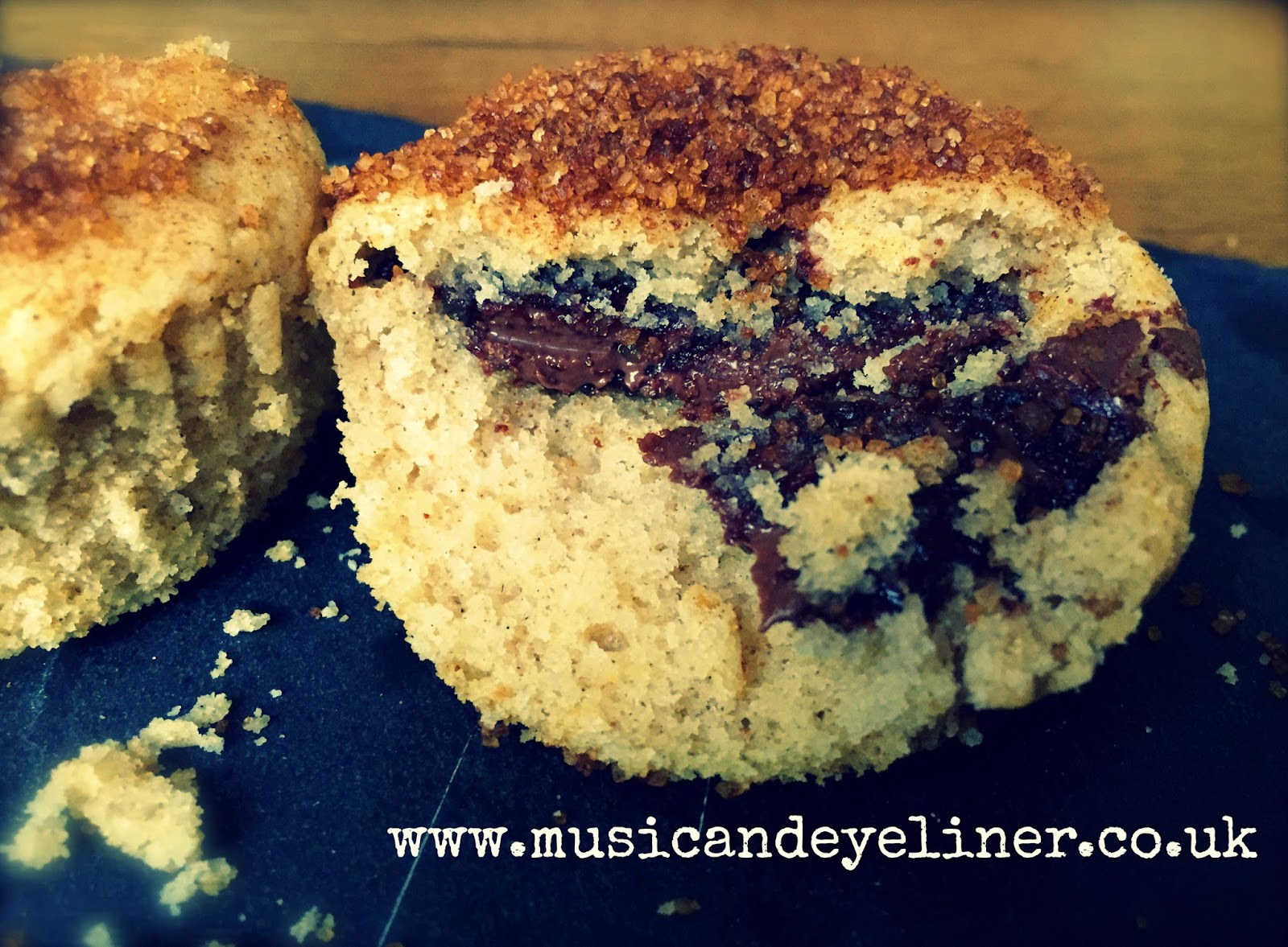 Nutella and cinnamon gluten free muffins recipe