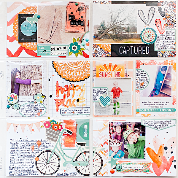 Heather Greenwood | April 2014 - Week 15 | Project Life | Scrapbook album
