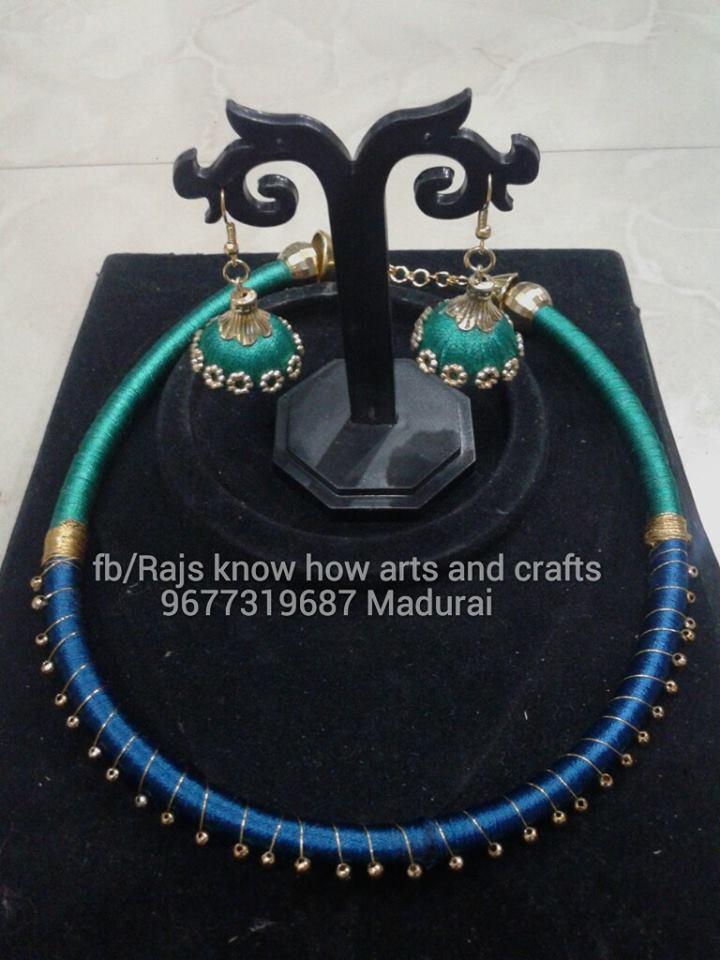 Art and craft classes in madurai silk thread jewellery