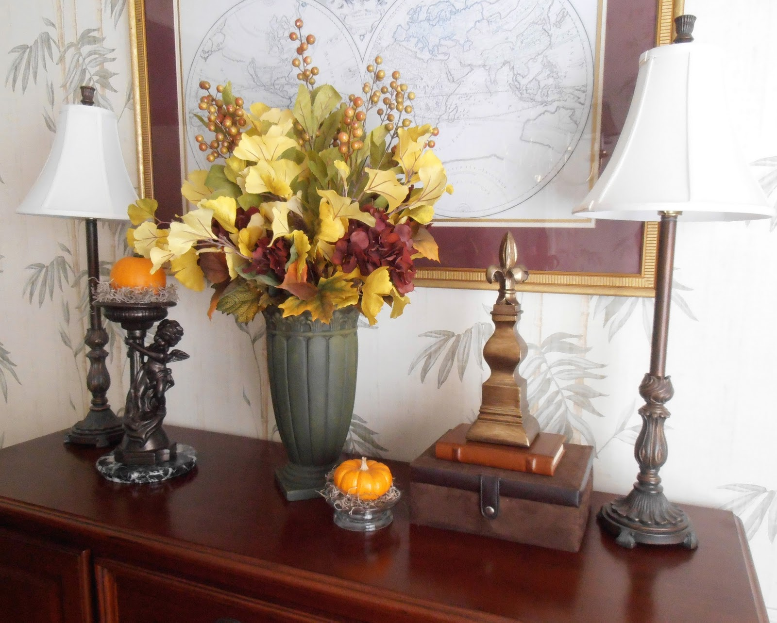 Tallgrass design preparing for autumn How to decorate a sideboard in a dining room