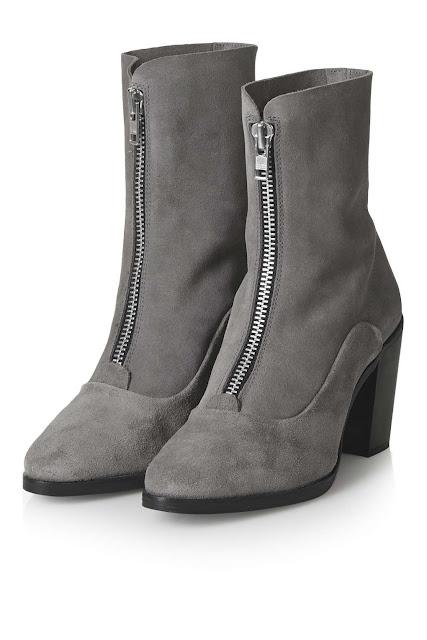 grey suede zip boots, grey suede boots,