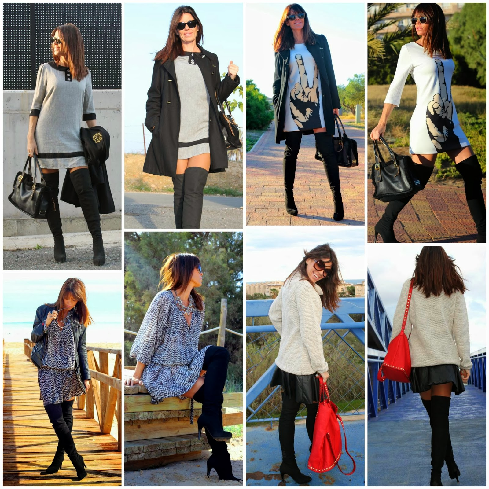 Outfits botas leggings
