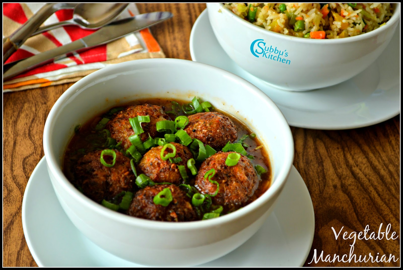Vegetable Manchurian Gravy Recipe