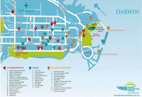 Darwin city map