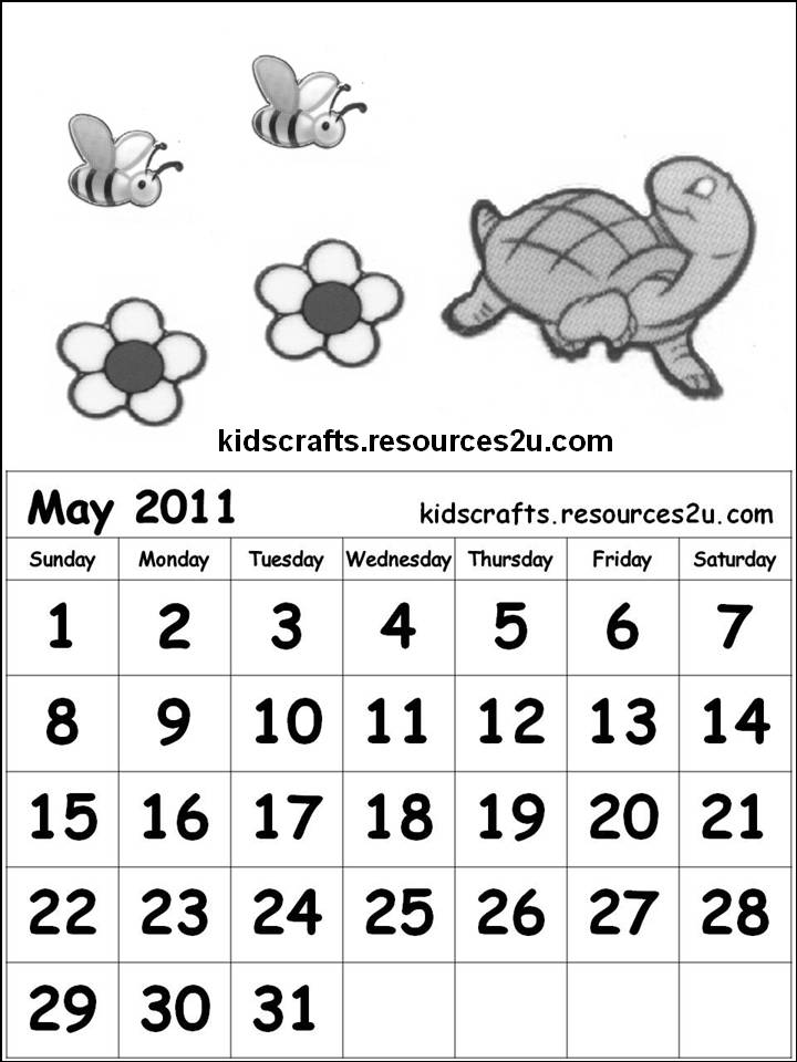 Cute Cartoon Characters Coloring Pages. may 2011 calendar page.