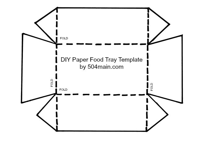 DIY Food Tray Template by 504 main