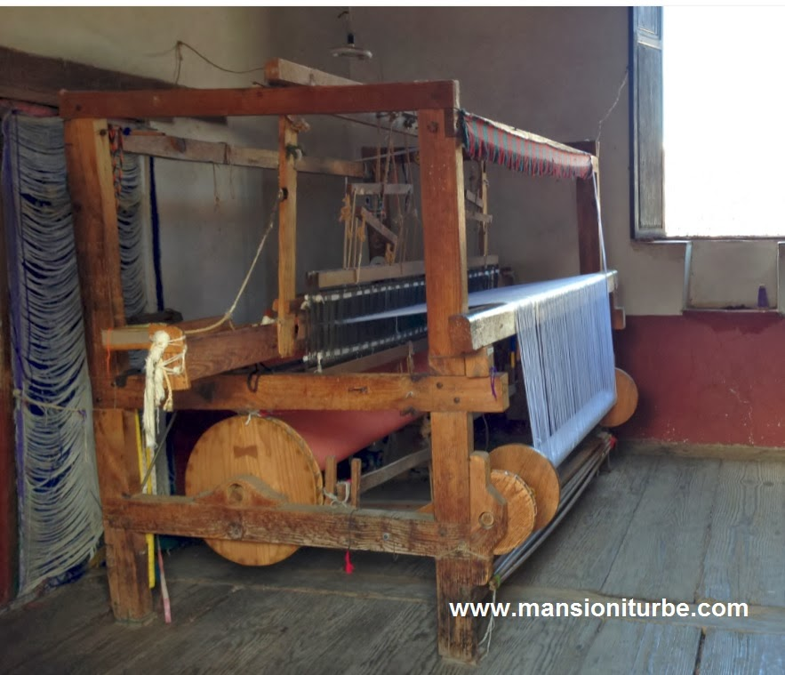 Pedal loom in Patzcuaro at the House of the Eleven Patios