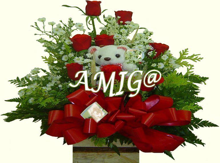 rosas rojas amigo/a