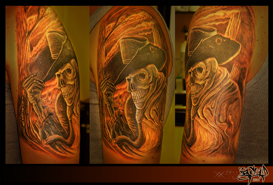 Western Cowboy Tattoo Designs