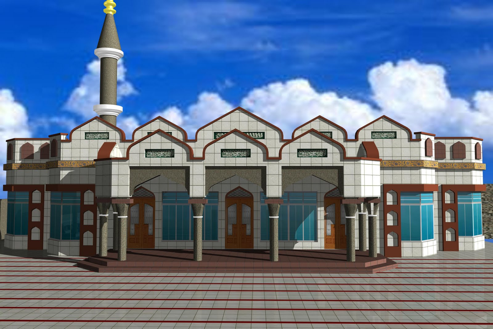 King2011 design for ceiling -  King2011 Mosque And School Design 3d Ceiling