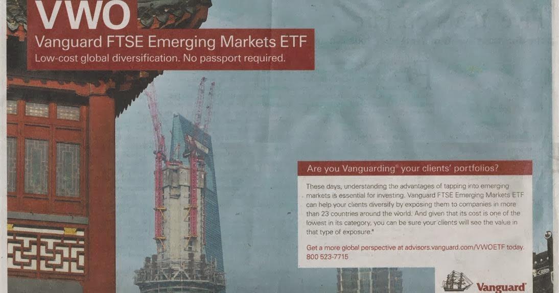 Ads of Vanguard FTSE Emerging Markets ETF Fund (VWO) | MEPB Financial