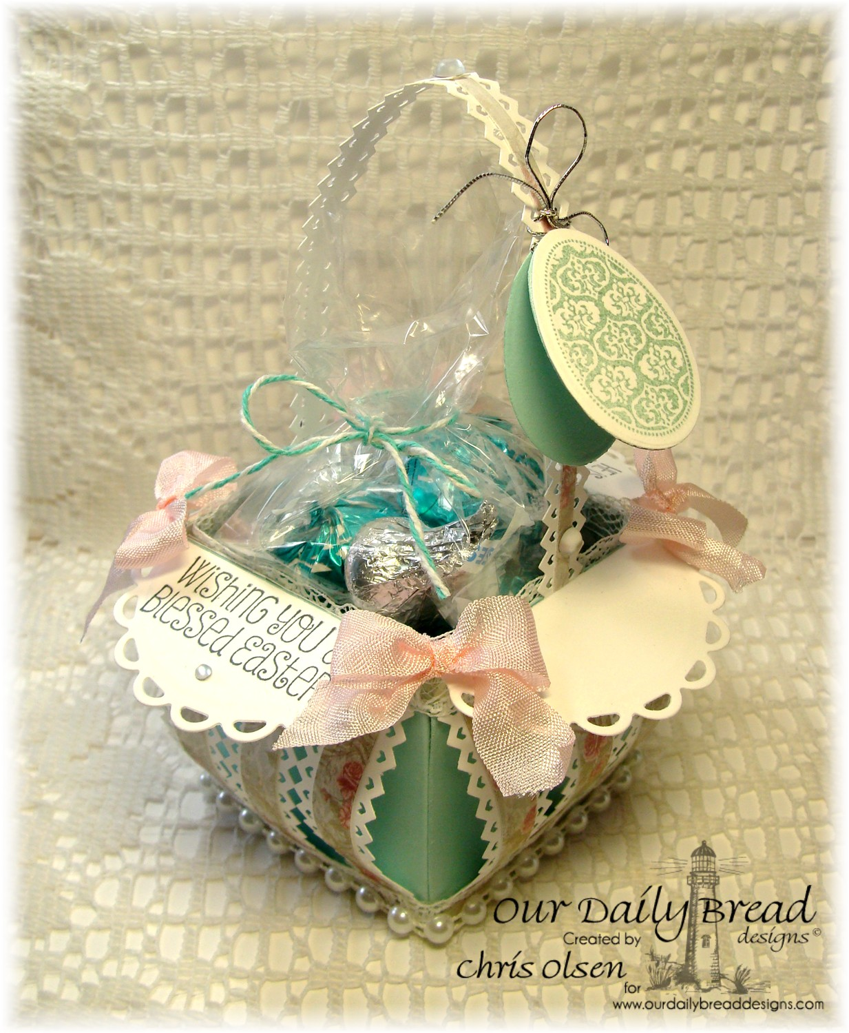 Stamps - Our Daily Bread Designs Blessed Easter, ODBD Custom Eggs Die, ODBD Shabby Rose Paper Collection