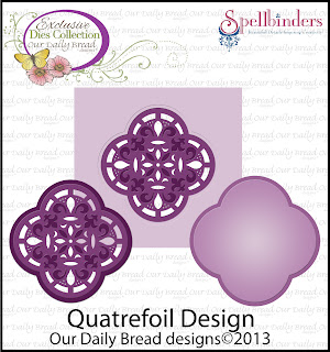 Our Daily Bread Designs, Quatrefoil Label Die
