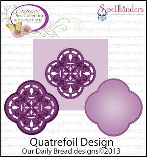 Our Daily Bread Designs, Quatrefoil Label Die