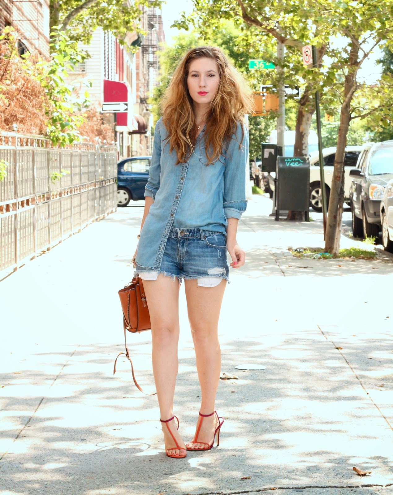 summer style, street style nyc, denim on denim bloggers, how to wear cutoffs