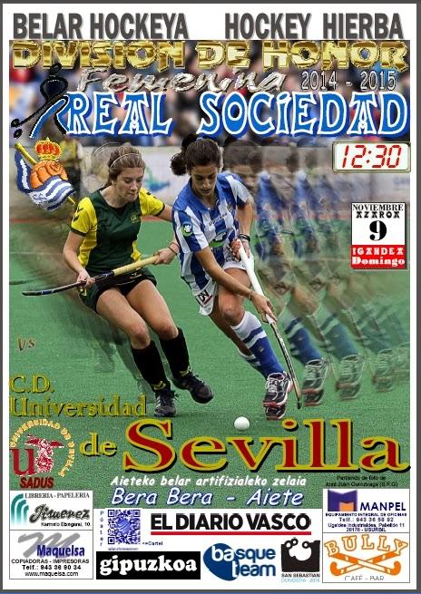 Cartel hockey 2014-11-09 Real Sociedad - Univ._Sevilla