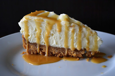 White Chocolate and Ginger Cheesecake with Ginger Butterscotch Sauce