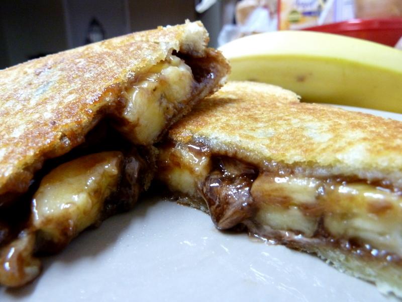 Grilled Banana Sandwich on Banana Bread