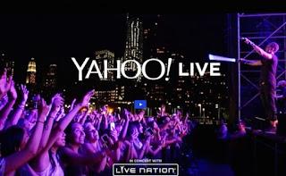 regarder le concert sur Yahoo's Live Nation
