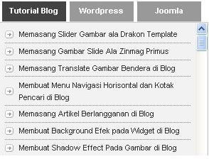 Cara Membuat Tab View Keren pada Blog
