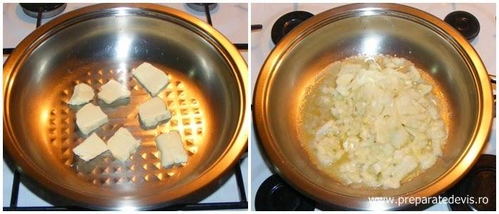 ceapa calita in unt, retete de mancare, retete culinare, tocanita de ciuperci preparare, ciulama de ciuperci preparare,