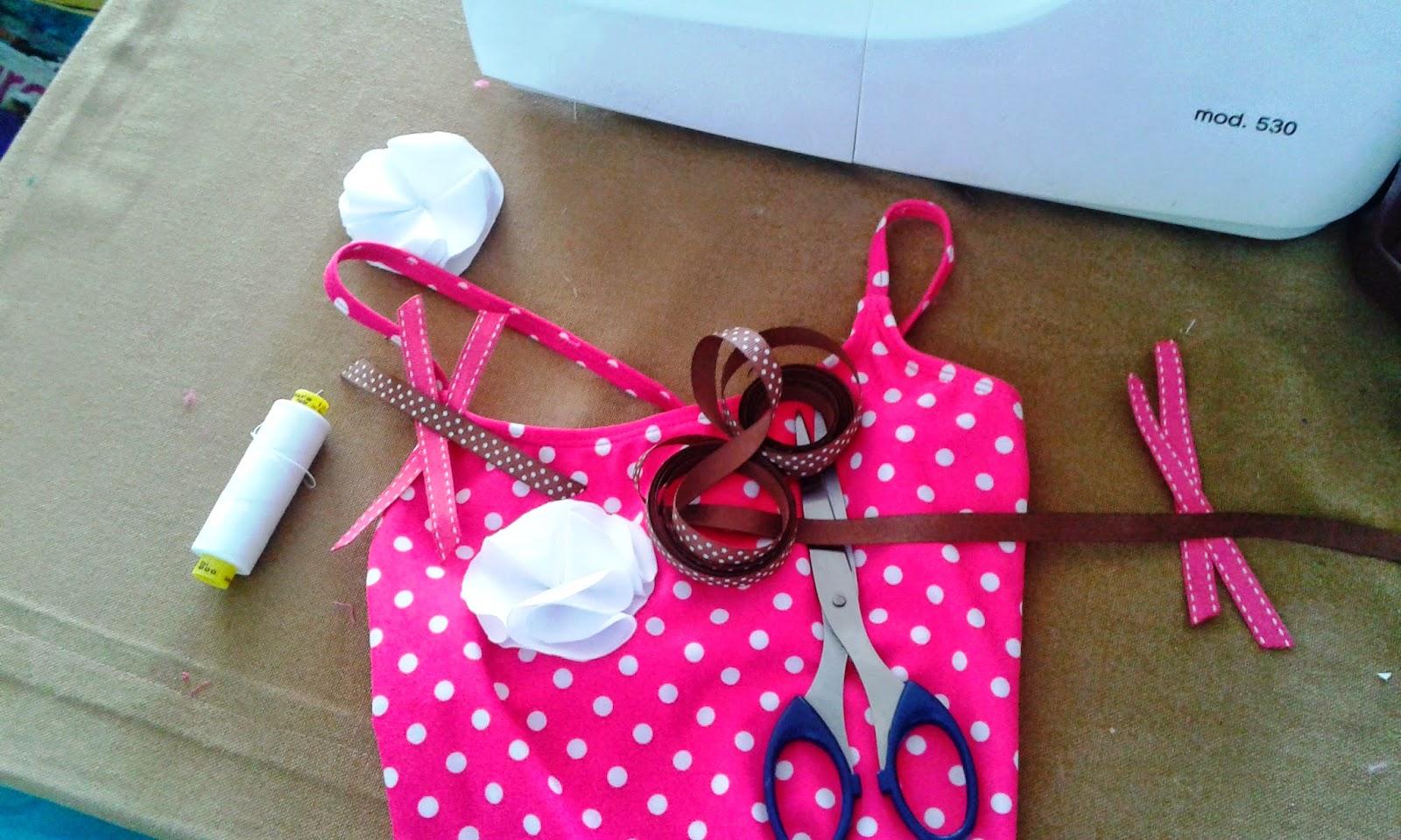 Decoracion Baño Ninas:Mil Cosas Monas: Ideas para decorar trajes de baño de niñas