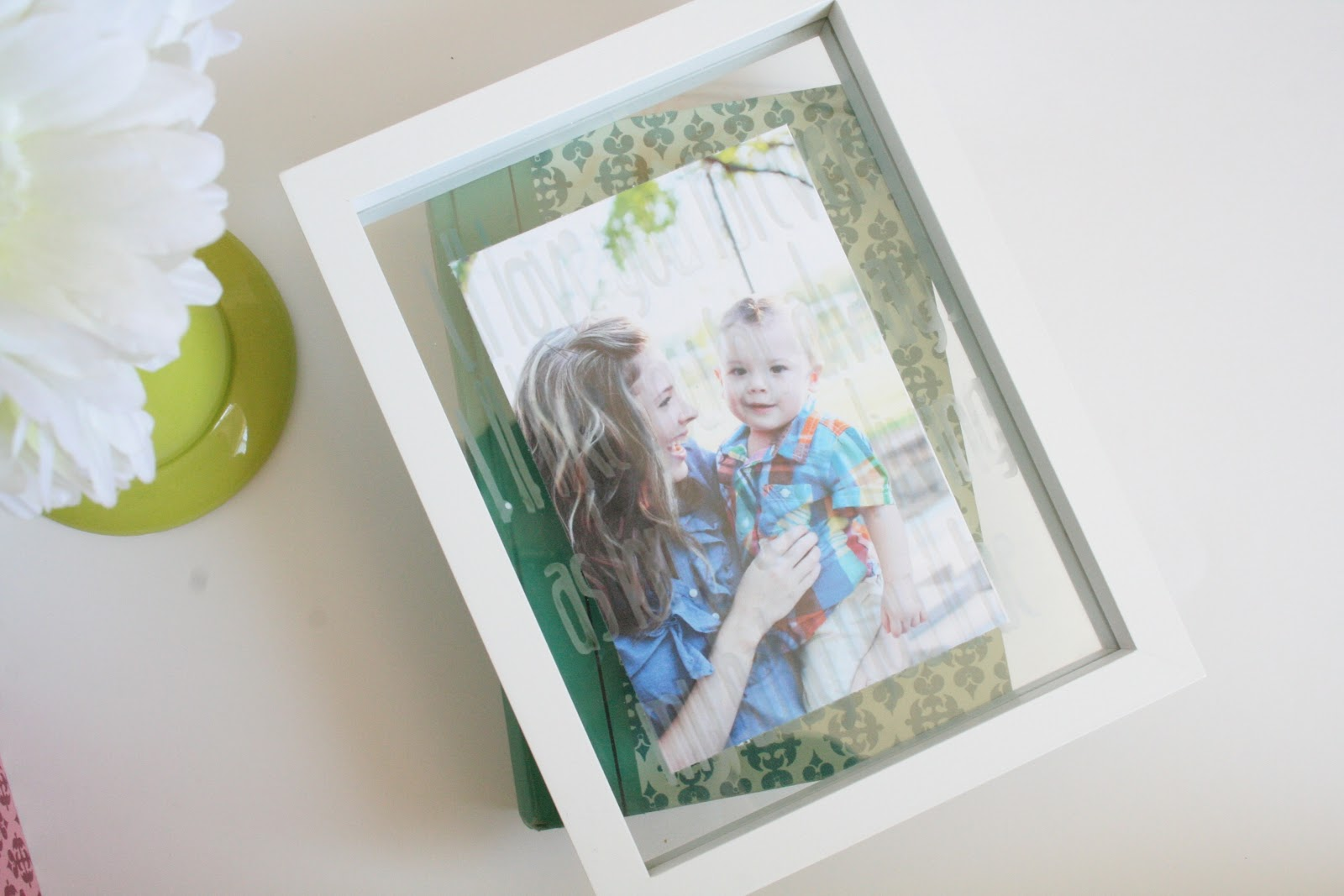 Tied Ribbon: Glass Etched Quote Picture Frame