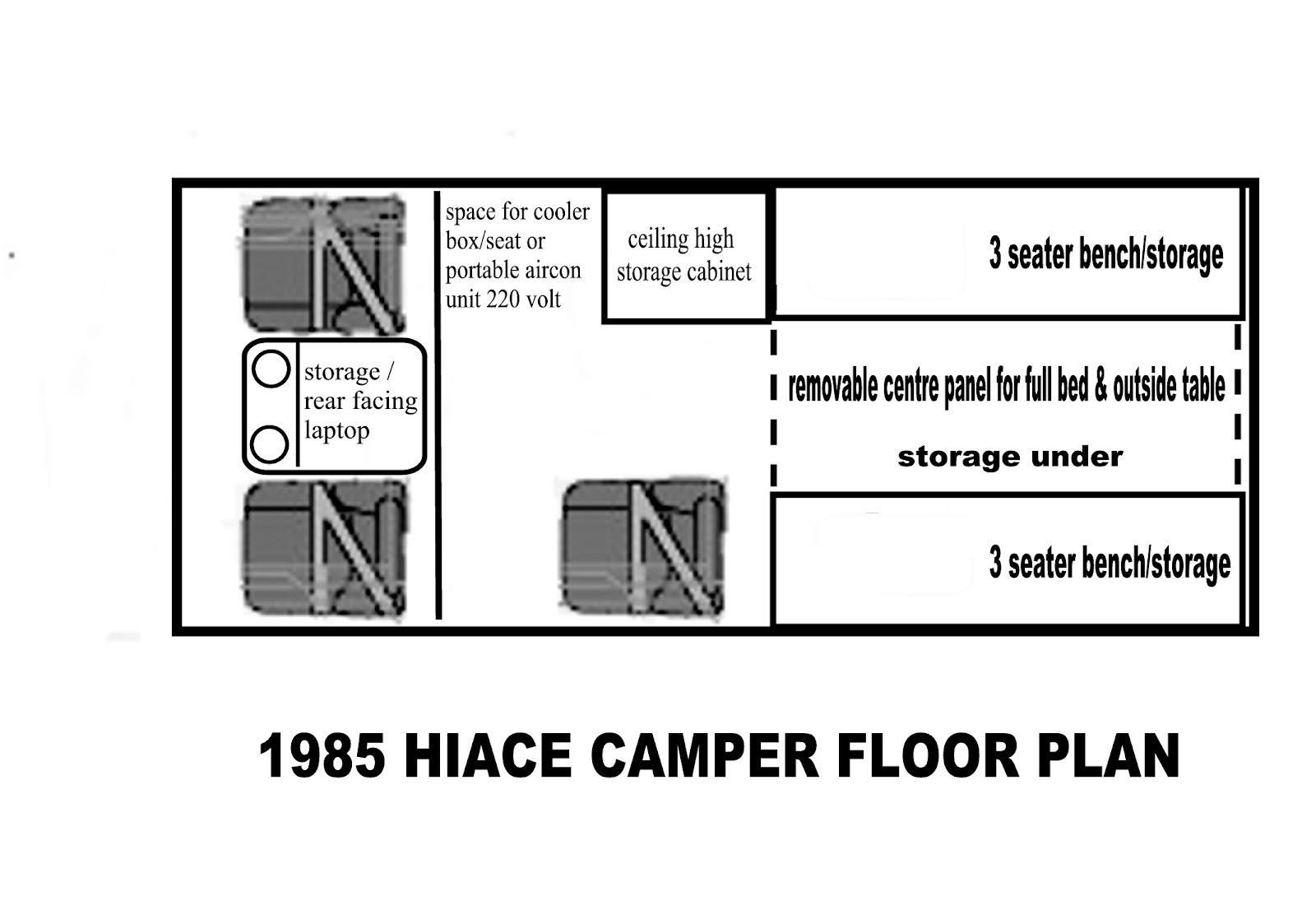 my campervan melaka  floor plan