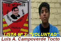 "Candidato Nº 2: ""VOLUNTAD"""