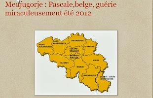 Pascale,belge, été 2012 guérie miraculeusement cet été 2012
