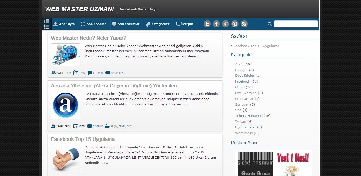 BlueBuzz Blogger Teması