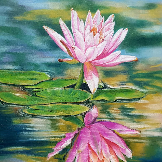 Water Lily Reflection (pastels)