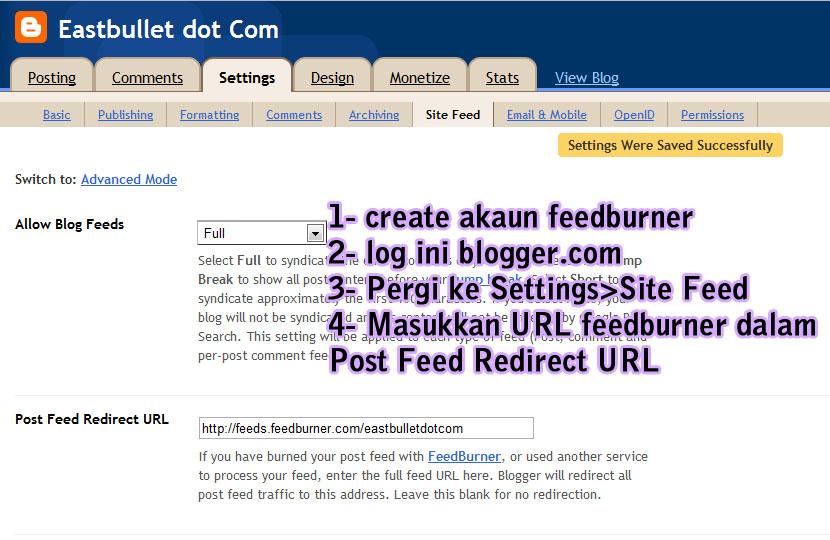 Masalah entry tak update di bloglist