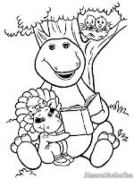 Barney Membaca Buku