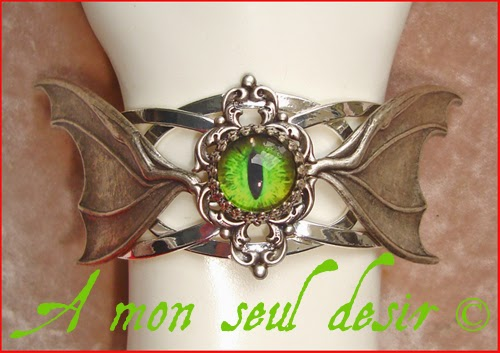 Bracelet Bijou Oeil Dragon Vert Krokmou Furie Nocturne Toothless Night Fury Green Dragon's Eye Jewelry