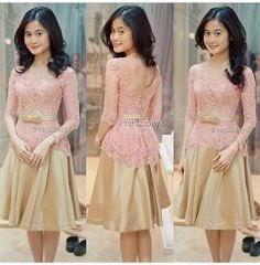 gaun kebaya modern