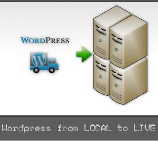 wordpress local to live