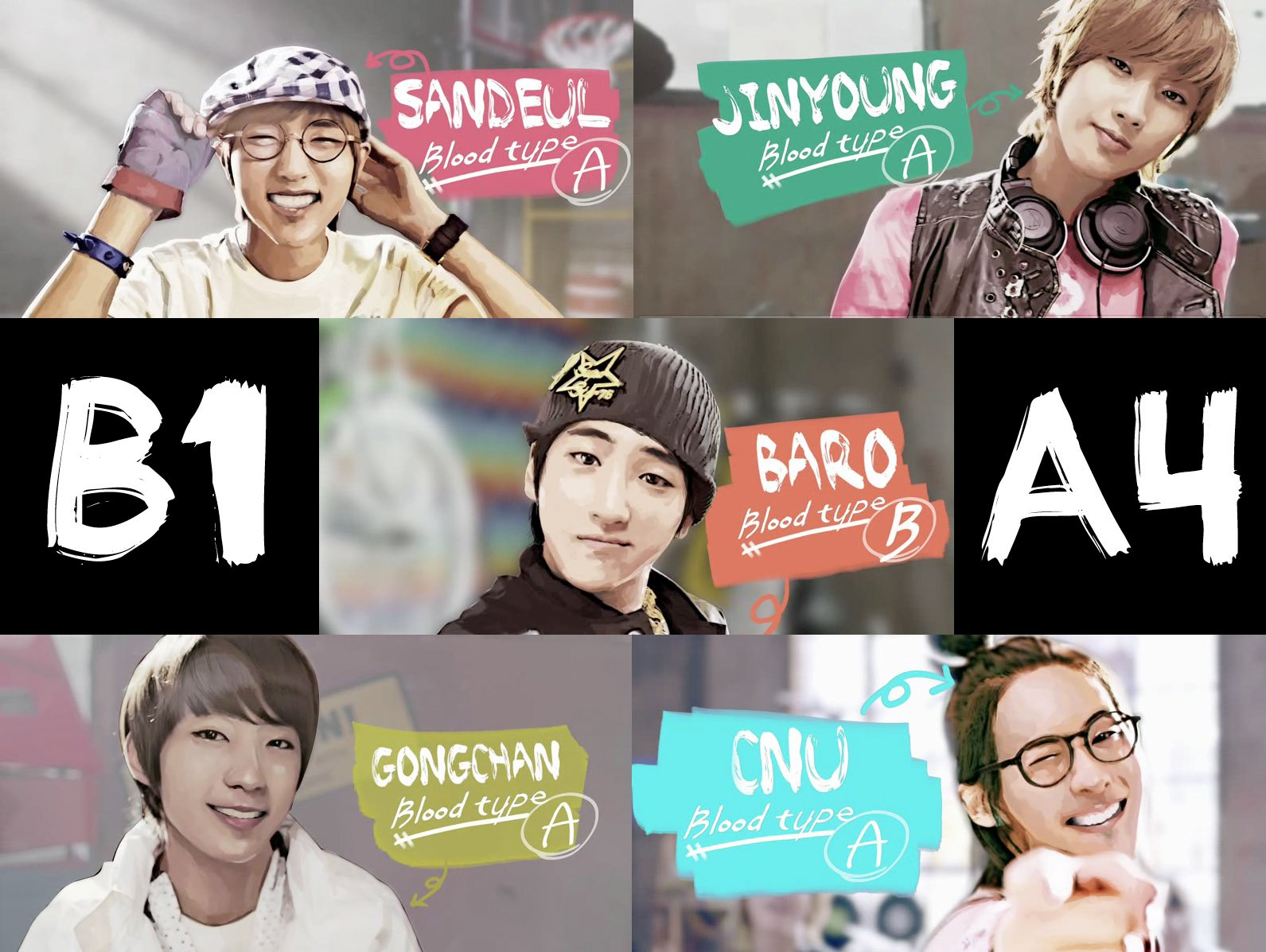 k-pop: b1a4 B1a4 Names