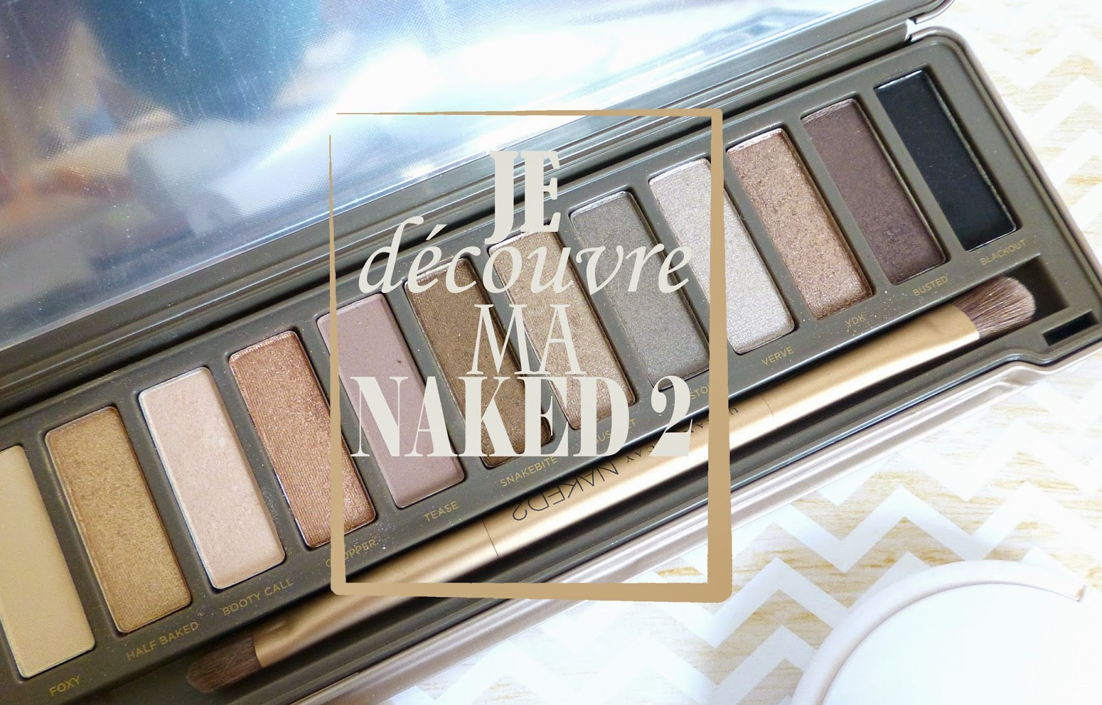 Je découvre ma NAKED 2!  essai 1 : un maquillage nude lumineux