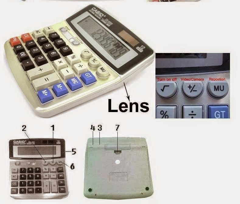 Kamera Spy Cam Kalkulator 4GB